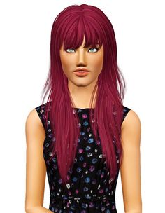 Newsea`s Crow hairstyle retextured by Pocket for Sims 3 - Sims Hairs - http://simshairs.com/newseas-crow-hairstyle-retextured-by-pocket/