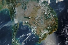 Smoke and Fire in the Indochina Peninsula : Image of the Day : NASA Earth Observatory