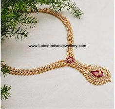 Designer Diamond Ruby Necklace