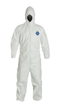 DuPont Tyvek Disposable Coverall with Hood, Elastic Cuff, White, Medium (Pack of 25)  DuPont Tyvek coverallIndividually packaged for your convenienceComfort fit design  http://industrialsupply.mobi/shop/dupont-tyvek-disposable-coverall-with-hood-elastic-cuff-white-medium-pack-of-25/