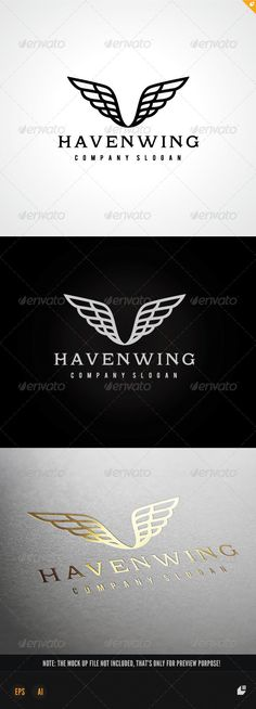 Haven Wing — Vector EPS #production #game • Available here → https://graphicriver.net/item/haven-wing/7615955?ref=pxcr