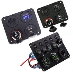 LED Rocker Switch Panel With Digital Voltmeter Dual USB Port 12V ❤️ Pin it please on your board Usb, Digital, Free Shipping, Board, Circuit, Charger, Truck, Size 10
