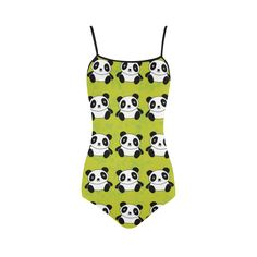 Panda Pattern Strap Swimsuit ( Model S05)