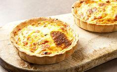 Quiche a la lorraine Mini Quiches, Mini Quiche Lorraine, Finger Foods, Vegan Recipes, Gluten, Pizza, Vegetarian, Cheese, Cooking