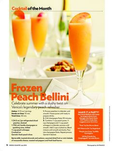 Frozen Peach Bellini : People.com