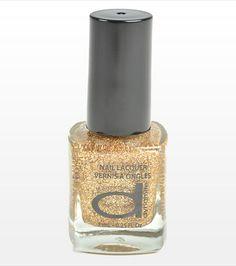 Golden Dynamite Nail Polish, perfect for the Holidays! Hello Nails, Holiday Wishes, Beauty Nails, Nailart, Perfume Bottles, Nail Polish, Vogue, Glitter, Holidays