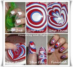 4th Of July Nails Four Ways  via www.hairsprayandhighheels.com