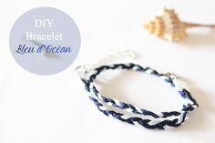 projet DIY bracelet bleu océan Bracelets Bleus, Ankle Bracelets, Jewelry Bracelets, Color Blue, Sailor