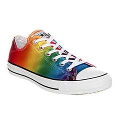 regenboog schoenen al star ! moooi!!
