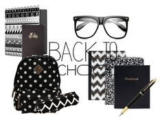 """""""black & white backtoschool"""" by megan-76 ❤ liked on Polyvore featuring interior, interiors, interior design, home, home decor, interior decorating, Forever 21, Madden Girl, INDIE HAIR and Kate Spade"""