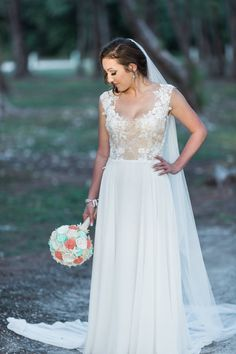 Real bride wedding dress from Ines Di Santo from Solutions Bridal in Orlando, Florida