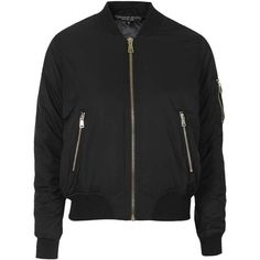 TOPSHOP PETITE MA1 Bomber Jacket (110 CAD) ❤ liked on Polyvore featuring outerwear, jackets, coats, coats & jackets, black, petite, flight jacket, black bomber jacket, bomber jacket and blouson jacket