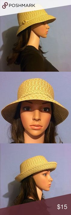 Fisherman Hat 3 Way Wear Summer Straw woven fisherman/ basket style hat able to be worn a verity of ways. Perfect for summer!! Beautiful like new condition. Accessories Hats