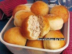 Receita Pão de Batata e Frango