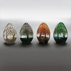 Season of Trees Captured in Glass- how amazing would it be If the trees were real and changed on their own!!