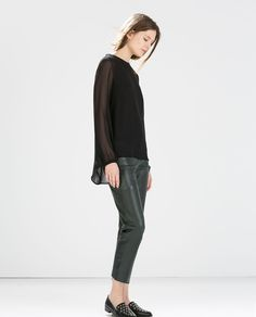 TOP À MANCHES LONGUES de Zara 2014