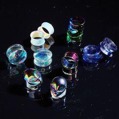 Irresistibly Iridescent // Iridescent Plugs Body Jewelry Aliens and Galaxy
