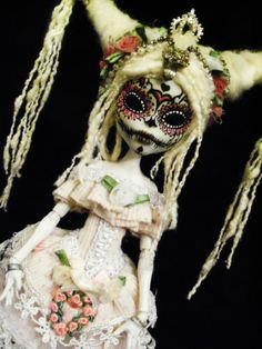 OOAK Monster High Ballerina Cam Skeleton Doll Dia de Los Muertos | eBay
