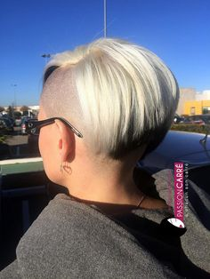 Shaved Sides, Half Shaved, Short Hair Cuts, Short Hair Styles, Buzzed Hair, Side Cuts, Undercut Hairstyles, Hair Dos, Cut And Color
