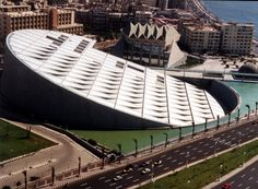 The new Library at Alexandria. This replaced the legendary library of ancient times.