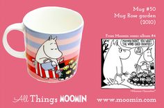 Mug – Rose garden Produced: 2010 Illustrated by Tove Slotte and manufactured by Arabia. The original artwork can be. Moomin Mugs, Tove Jansson, Wood Shed, Marimekko, 50th, Original Artwork, Rose, Tableware, Garden