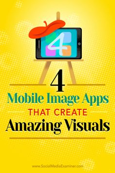 Tips on four mobile apps to help you create amazing social media images on the go.