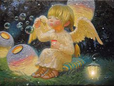 Victor Nizovtsev, Diy Xmas, Angel Artwork, Lovely Girl Image, Magic Realism, Christmas And New Year, Bunt, Cute Pictures, Fantasy Art
