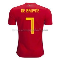 Billige Fotballdrakter Belgia VM 2018 De Bruyne 7 Hjemme Draktsett
