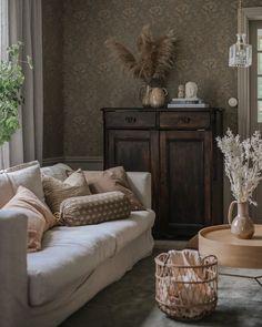 Interior And Exterior, Interior Design, Scandi Style, Cozy House, Interior Inspiration, Jasmine, Home And Garden, Couch, Throw Pillows