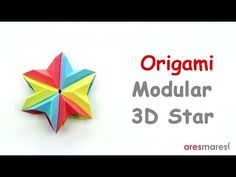 Origami 3D Modular Star (easy - modular) - YouTube
