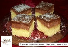 Csokis kókusztalp Hungarian Desserts, Hungarian Cake, Hungarian Recipes, Nutella, French Toast, Cheesecake, Food And Drink, Cooking Recipes, Sweets