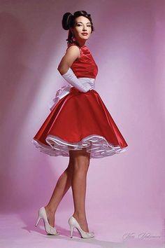 Изображение танцевальных костюмов в стиле 60 х годов