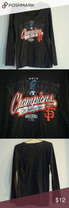 "Sanfrancisco world series Geuine merchandise Size S  Length from top to hem 26"" Armpit to armpit laying flat 16"" Worn in good condition Genuine Merchandise Tops"