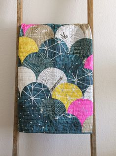 Glam Clam Quilt using Story fabric by SUCH Designs. Sewn by Erica Sage. CB Handmade 2015