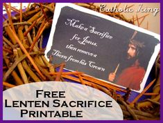 Crown of thorns for kids to sacrifice during Lent- a free printable!