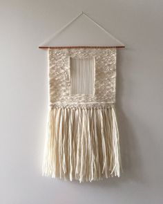 Hand Woven Wall Hanging / Textile Art : Off White by 01JACKSON