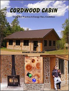 Cord Wood Cabin.  | Timber Trails: Supporting cabin, cottage, and tiny house builders with plans, kits, tools, and tips! For details, go to  >>  TimberTrails.TV