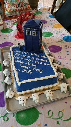 Tardis cake with Adipose's