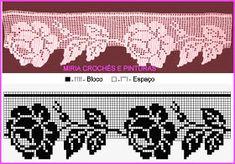 No photo description available. Crochet Patterns Filet, Crochet Lace Edging, Crochet Borders, Crochet Flower Patterns, Crochet Diagram, Thread Crochet, Crochet Doilies, Fillet Crochet, Crochet Toddler