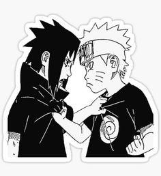 Naruto and Sasuke young Sticker