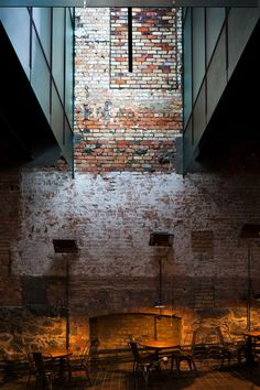 Interior design, decoration, loft, furniture, The Imperial Buildings / Fearon Hay Architects Industrial Architecture, Interior Architecture, Interior And Exterior, Installation Architecture, Brick Interior, Building Architecture, Auckland, Design Café, Store Design