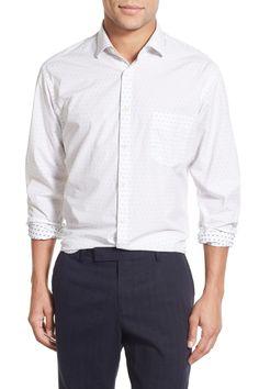 'John T' Standard Fit Dot Sport Shirt