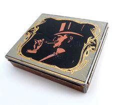 Vintage Cigarette Tin Box  Retro Advertising Metal by madlyvintage,