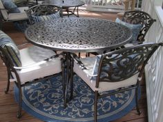Customer Image Gallery for Strathwood St. Thomas Cast Aluminum Round Dining Table $262 Amazon Prime