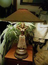 Hula girl lamp mfgd by dodge inc cast metal c1940s my hula lamp sgnd dodge hagen mfg vintage 1940s original mozeypictures Images