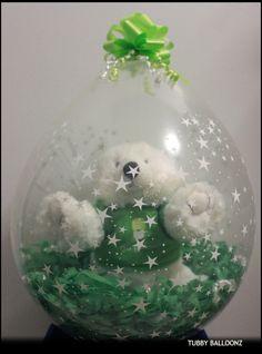 Go Green Stuffed Balloon....  www.Facebook.com/tubbyballoonz