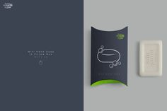 Mini Hand Soap in Pillow Box Mockup by dennysmockups on @creativemarket