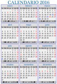 El calendario lunar foto de CALENDARIO LUNAR 2016 GRANDE ...