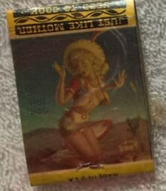 Vintage Pin-Up Girl Rita May Cafe Matchbook Cover #RitaMayCafe