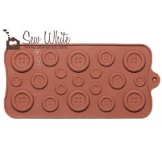 Cute as a Button Mould - Chocolate Buttons